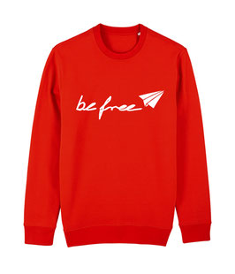 "be free Logo – Unisex Sweatshirt ""red"""