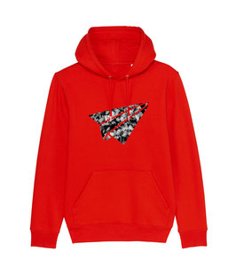 "be free ""Flyer"" – Unisex Hoodie ""red"""