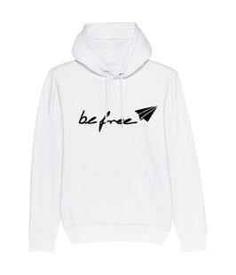 "be free Logo – Unisex Hoodie ""white"""