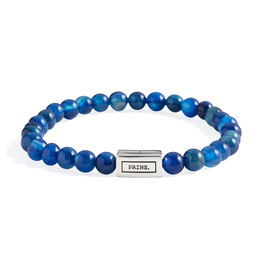 Blauw Agaat en Massief Zilveren Armband