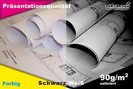 Premium-Plot 90g gestrichene Qualität Schwarz/Weiß & Farbe