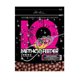 LK BAITS IQ METHOD FEEDER BOILIES 10-12MM, 600G /GINGERBREAD