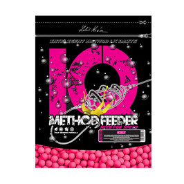 LK BAITS IQ METHODENFUTTER FLUORO BOILIES 10-12MM, 600G CHERRY