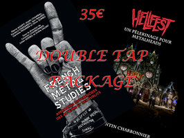 DOUBLE TAP PACK  Prévente : French Metal Studied + Hellfest un pèlerinage pour metalheads