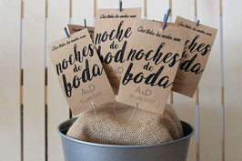 Packaging bengalas 'Que todas las noches sean noches de boda'