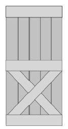 Loftdeur Schuifdeur Steigerhout Type X-Under