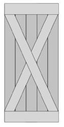 Steigerhout Zelfbouwpakket Schuifdeur old type X