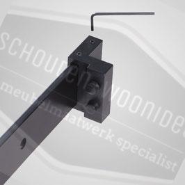 Deur-stoppers Einddemper mat zwart t.b.v. Schuifdeursysteem