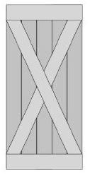 Loftdeur Schuifdeur Steigerhout Type X