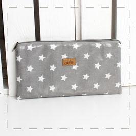 Kosmetiktasche/ Mäppchen Wiebke - grau weiße Sterne