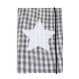 U-Heft-Hülle grau Minikaro - personalisierbar