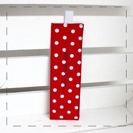 Lesezeichen - rot Punkte