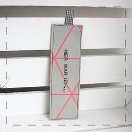 Lesezeichen - mit Neonprint