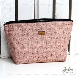 Kulturtasche/ Windeltasche Lilli - rosa gemustert