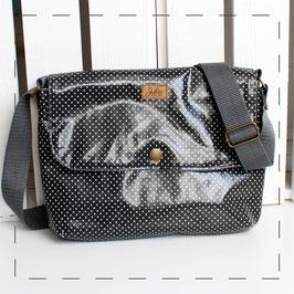 Handtasche Sophie - anthrazit Pünktchen