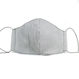 Stoffmaske für Erwachsene - grau Minikaro