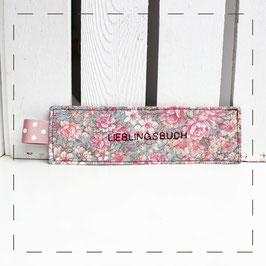 "Lesezeichen - florales Muster ""Lieblingsbuch"""