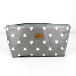 Kosmetiktasche Täschchen Milli - grau Sterne