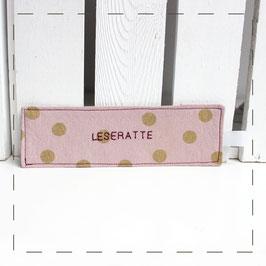 "Lesezeichen - rosa ""Leseratte"""