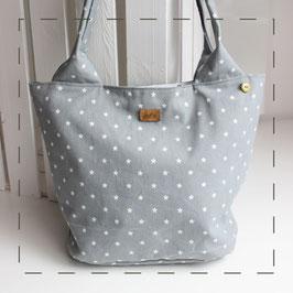 Tasche - grau Sternchen