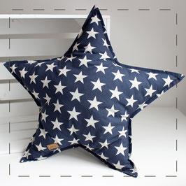 Sternkissen - blau Sterne
