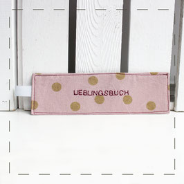 "Lesezeichen - rosa ""Lieblingsbuch"""