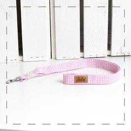 Schlüsselband - rosa Vichykaro