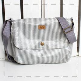 Handtasche Sophie - grau-weiß gestreift