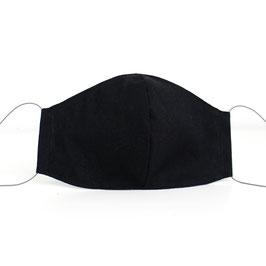 Mundmaske - 2-lagig - schwarz uni
