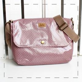 Handtasche Sophie - altrosa mit Pünktchen