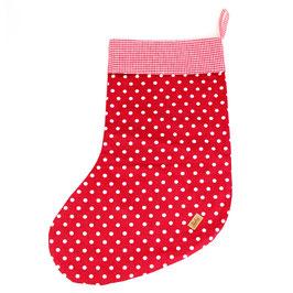 Christmas Stocking rot weiße Punkte