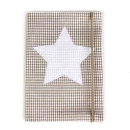 U-Heft-Hülle beige Vichykaro - personalisierbar