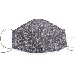 Stoffmaske für Erwachsene - grau dotty