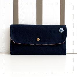 Portemonnaie Claudi - dunkelblau puderrosa Sterne