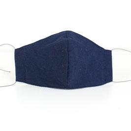 Mundmaske - 2-lagig - dunkelblau uni