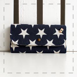 Portemonnaie Claudi - blau mit Sternen