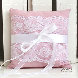 Ringkissen - rosa randlos