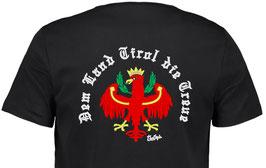 "Herren Premium T-Shirt, Kurzarm, schwarz ""Klassiker"" Dem Land Tirol die Treue"