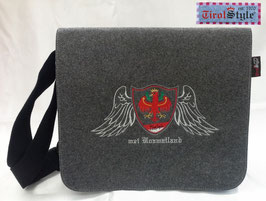 "College-, Kuriertasche ""Stefano"" Stickerei mei Hoamatland, Wappen, Tiroler Flagge und Adler mit Engelsfügel"