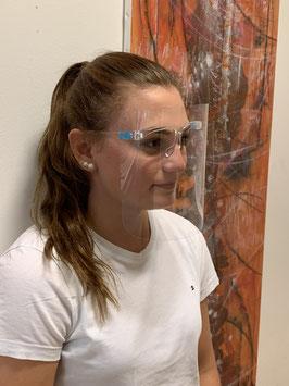 modisches Gesichtsschutz Visier auf Brillengestell montiert - Sonderproduktion - KEIN UMTAUSCH möglich - keine Medizinprodukt
