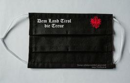 """""""Dem Land Tirol die Treue Maske"""" Mund- und Nasen-Maske gestickt - """"Spruch weiß und Adler rot"""" (keine medizinische Maske)"""
