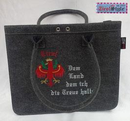 """Handtasche """"Hannah"""" Stickerei Adler, Tirol und Dem Land dem ich die Treue halte"""