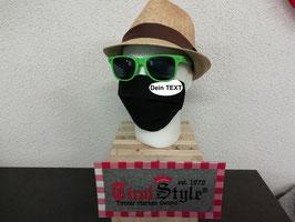 """""""Dein Wunschtext"""" Mund- und Nasen-Maske gestickt (keine medizinische Maske)"""