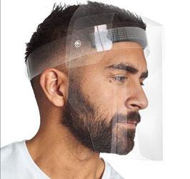 Gesichtsschutz aus PVC mit geschlossenem Visier - Transparent  -  Hygiene-Artikel !kein Umtausch oder Retoure möglich!
