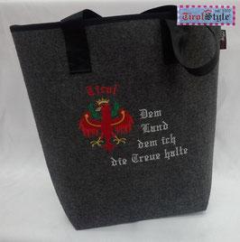 """Einkaufstasche """"Shopper"""" Stickerei Adler, Tirol und dem Land dem ich die Treue halte"""