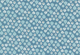 04037 Baumwolle Westfalenstoff Blätter blau