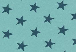 Jersey Sterne türkis