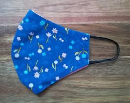 Maske/ Mundschutz Blumenwiese Blau