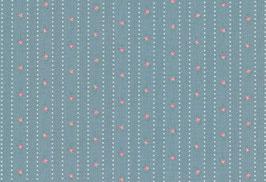 04040 Baumwolle Westfalenstoff hellblau Blümchen