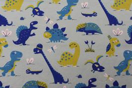 0223 Dinosaurier Jersey Lillestoff